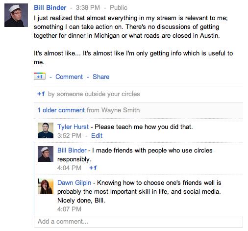 Google+ Bill Binder